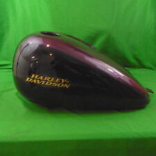 NOS OEM Harley H-D Dyna Fuel Tank Purple Fire/Blackberry Smoke W/Pinstripe