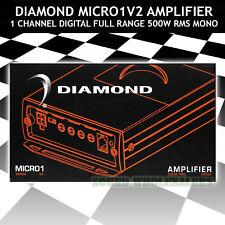 DIAMOND AUDIO MICRO1V2 MONO AMPLIFIER 500W X1 @ 1 OHM RMS FULL RANGE CLASS D