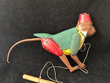 Singe Mécanique Jouet Ancien Tôle Antique Toy Monkey