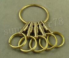 Handmade Solid Brass Key Chain Holder with Ring