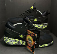 Heelys Force Wheeled Skate Sneakers Shoes Black Lime Green Mens Size 11 HE100095