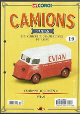 FASCICULE ALTAYA CORGI CAMIONS D'ANTAN  N°19  CAMIONNETTE CITROEN H EVIAN