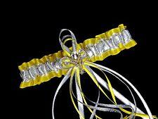 PLUS SIZE Handmade Yellow Silver White GARTER Prom Wedding Bridal Lingerie Dance