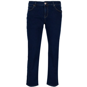 GIN TONIC Damen Straight Jeanshose Plain dark blue
