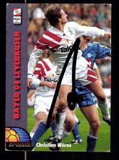 Christian Wörns Bayer Leverkusen Panini Card 1994 Original Signiert +A98819