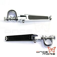 """Chrome Motorcycle 1/1-4"""" Highway Foot Pegs With Mount Clamps For Harley Choppers"""