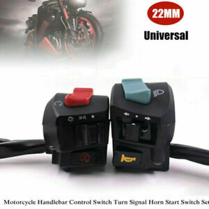 """1Pair 7/8"""" Motorcycle Handlebar Control Switch Turn Signal Horn Start Switch Set"""