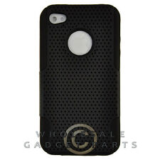 Apple iPhone 4/i4S Hybrid Mesh Case Black Case Cover Shell Protector Guard