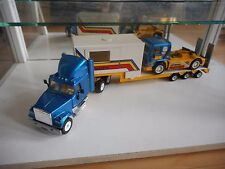 Siku White Truck + Trailer + Volvo FL10 Race Truck - Blue/Yellow (SIku nr: 3914)