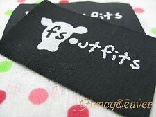 Custom Boutique (Artwork logo) Woven Labels for Dresses 200pcs , Suits, Clips