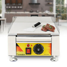 Silver Gray Grill Portable Propane Gas Outdoor Cooking Flat Table Top Griddle