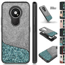 for Nokia C2 Tava, C5 Endi Division Rugged Impact Protector Case Cover+PryTool