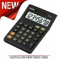 Casio Office Desk Calculator-MS8B│8 Digit Tax VAT - /+ Calculation│Solar+Battery