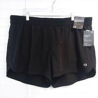 GAPfit Women's XL Midrise Gsprint Black Built-In Brief Athletic Running Shorts