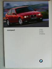 Prospekt BMW 3er E 36 compact (316i, 318 ti, 318 tds), 2.1996, 32 Seiten