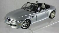 BURAGO BMW Z3 M 3.2 ROADSTER 1:18 96 SILVER WHITE INDIVIDUAL INTERIOR TOY CAR