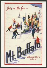 "AUSTRALIA: Historical travel poster ""MT BUFFALO"" by Fay Plamka [1993]"