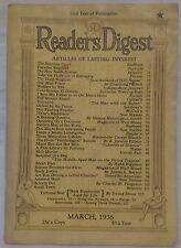 March 1936 Reader's Digest!!!