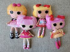 "Lalaloopsy Plush Doll Soft Button Eyes Stuffed Lot Of 4 10"" Cute!"