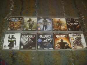Call Of Duty Games (Sony Playstation 3 PS3) Tested Works + Case Pick & Choose