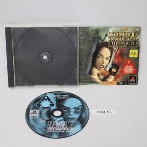 SONY PS1 TOMB RAIDER V 5 Chronicles Working NTSC-J Japan 2004-093