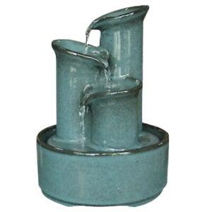 Ceramic Bamboo Zen Garden Water Fountain, Complete Kit. Includes Pump