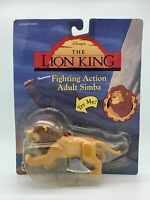 Vintage Disney Mattel The Lion King  Fighting Action Adult Simba Figure NOS