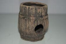 Acquario Grande Dettagliato Ceramica Minchia Barile Estremità Aperta 10 x 10 11