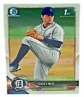 2018 Bowman Draft CHROME Prospects 1st Official Bowman CHROME Card Detroit Tigers Baseball Rookie Card RC #BDC1 REFRACTOR Parallel Casey Mize