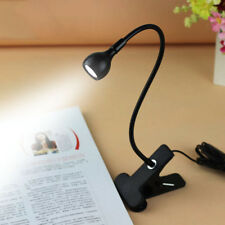 LED Flexible Reading Lamp Light USB Clip-on Beside Bed Table Desk Eye Protection