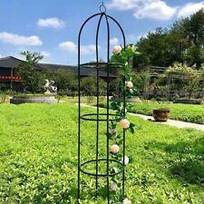 More details for 1.9m outdoor garden metal obelisk climbing plant support frame trellis