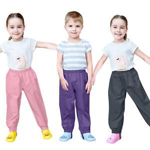 Toddler Kids Boys Girls Rain Pants Waterproof Windproof Mud Trousers Clothes AU