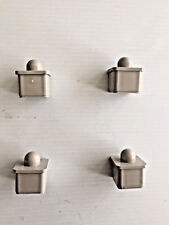 SET OF 4 US ARMY FOLDING COT BED REPLACEMENT NIPPLE END CAPS