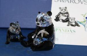 2008 Annual Swarovski Crystal Pandas - 9100 000 086 / 900 918 - New in Box