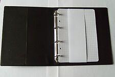 Ringbuch Din A6 schwarz 4 Ringe Ringordner   Blätter kariert