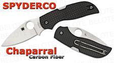 Spyderco Chaparral Carbon Fiber Folder Plain Blade CPM S30V Steel C152CFP NEW