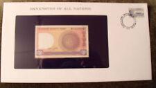 Banknotes of All Nations Bangladesh 1 Taka 1982 P6Ba1 UNC Kibria Thin serial #