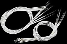 WHOLESALE JOB LOT 10 PAIRS RACING BIKE BRAKE CABLES WHITE SPORTS CYCLE