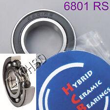6801 2RS Si3N4 Ceramic Ball Bearing Rubber Sealed 61801 wheels 12 x 21 x 5 mm