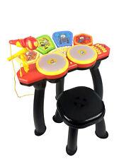 bambini My First ELETTRONICO 6 Batteria RITMICO Set con microfono & Sgabello 3yo