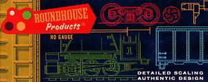 ROUNDHOUSE HO-SCALE #3460 OLD TIMER CABOOSE BLACK UNLETTERED *NOS* VINTAGE 1960s