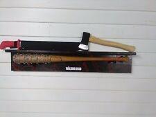 THE WALKING DEAD NEGAN LUCILLE  BAT,  Ricks Grimes axe & red handle machete lot