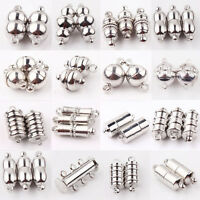 Lots Style 10/Sets Silver Plated Magnetic Clasps Hooks Connectors Jewelry Making