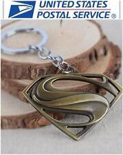 New DC Comic Bronze Superman Keychain Keyring Collectible Key chain Key Ring