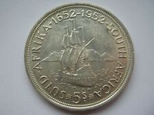 South Africa 1952 silver 5 Shillings Crown GVF