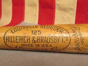 "Vintage Louisville Slugger Wood H&B 125 Baseball Bat Frank Robinson Model 33"""