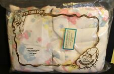 Vtg Baby Crib Comforter & Pillow Animals Bunny, Lamb,Rocking Horse,Donkey Unused