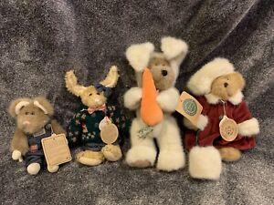 4 Boyds Bears Bear, Rabbits,$ Mouse Non Smoking Home