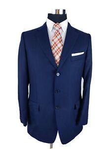 Ermenegildo Zegna 42R Slim Navy Blue Wool 3-Button Sport Coat Blazer Jacket