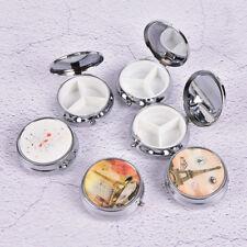 Metal Folding pill case Medicine Organizer Pill Box Makeup Storage Container KZ